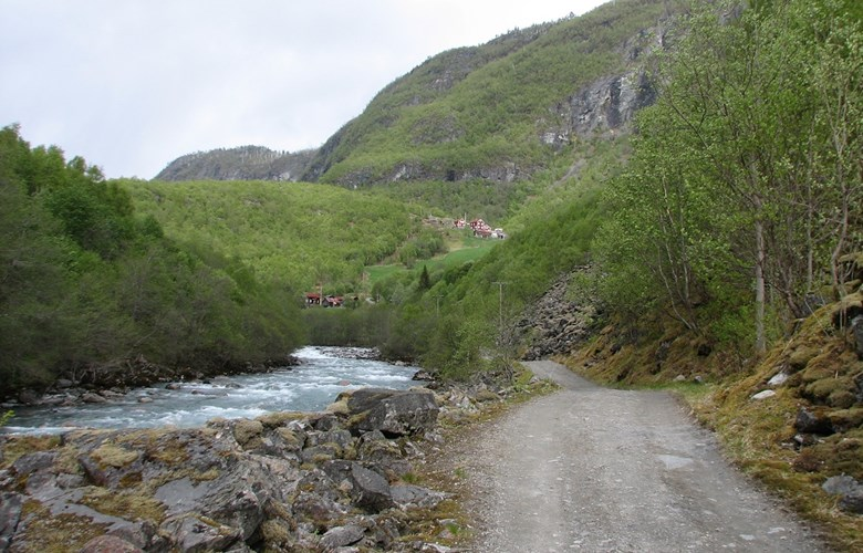 Endepunktet på Vettisvegen, Gardsbruka på Vetti.